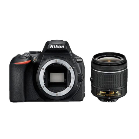 Nikon D5600 Black Digital SLR Camera with 18-55mm AF-P VR Lens