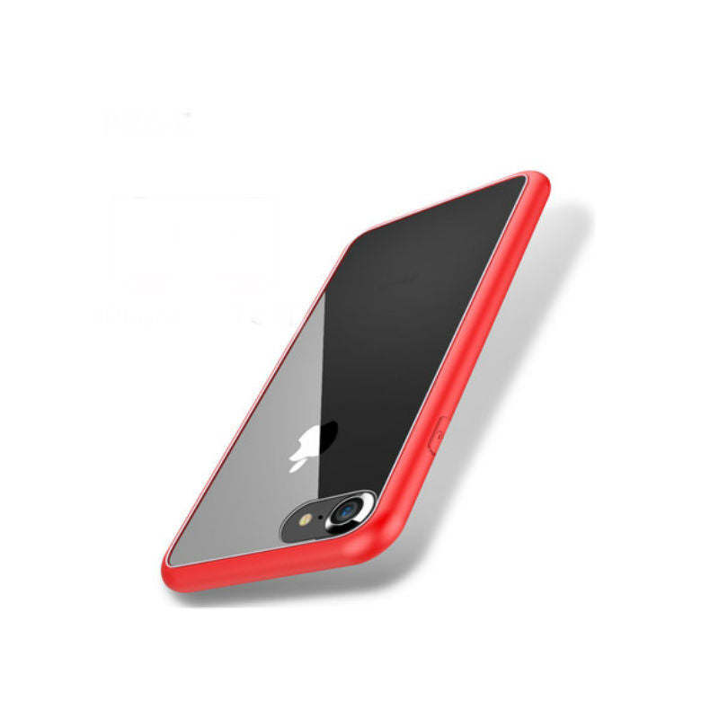 Soft Shell Drop Resistance Case 5.5 inch for iPhone 7 Plus (Red Steel)