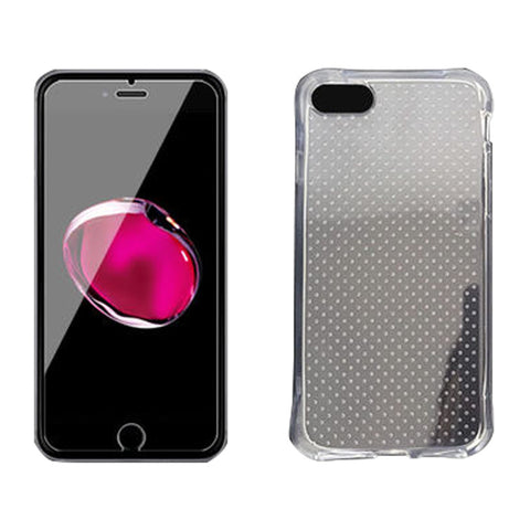 Glass Membrane Protective Film For iPhone 7 Plus with Shell Drop Resistance Case (Transparent)