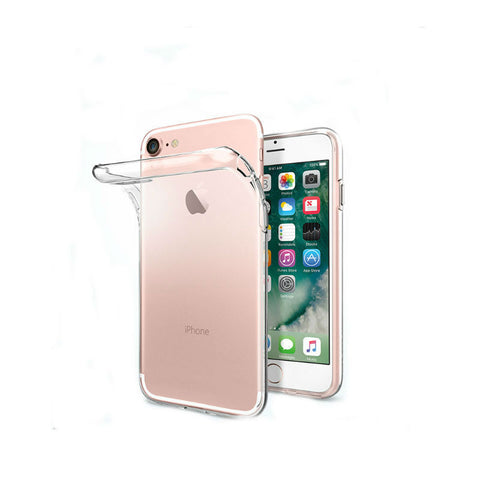 Soft Silicone Protective Shell Case for iPhone 7 (Transparent)