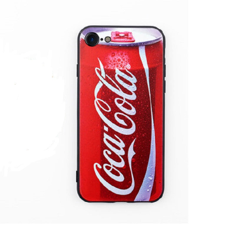 Soft Silicone Phone Shell Protective Sleeve for iPhone 7 (Coke)