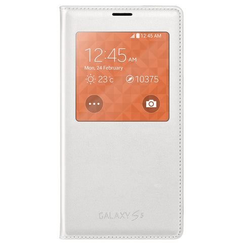 Samsung Galaxy S5 S View Cover Case White EF-CG900BWEGWW