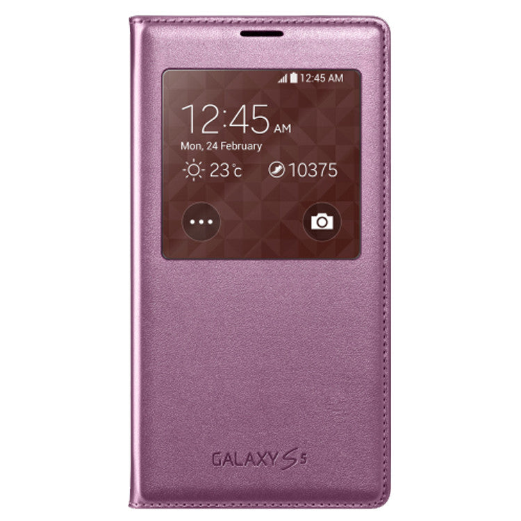 Samsung Galaxy S5 S View Cover Case Glam Pink EF-CG900BPEGWW