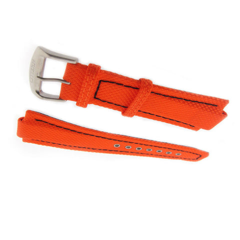 Citizen 59-S52353 Nylon Watch Band (Orange)