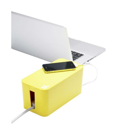 BlueLounge Cable Box Mini CBM-YLO (Yellow)