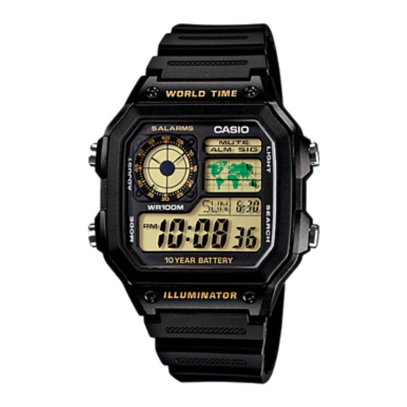 Casio Classic Standard Digital AE-1200WHD-1BVDF Watch (New with Tags)