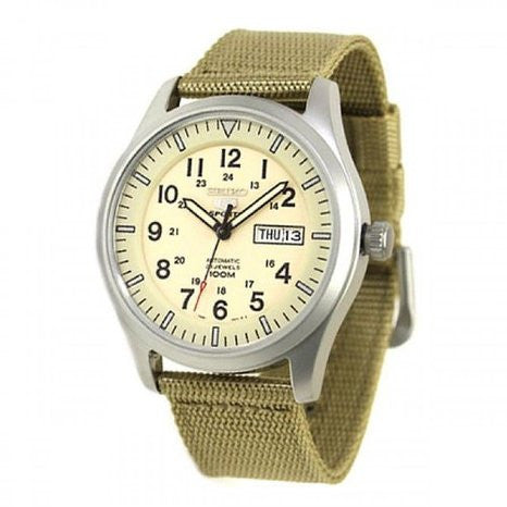 Seiko 5 Sports Automatic Military SNZG07 Watch (New with Tags)