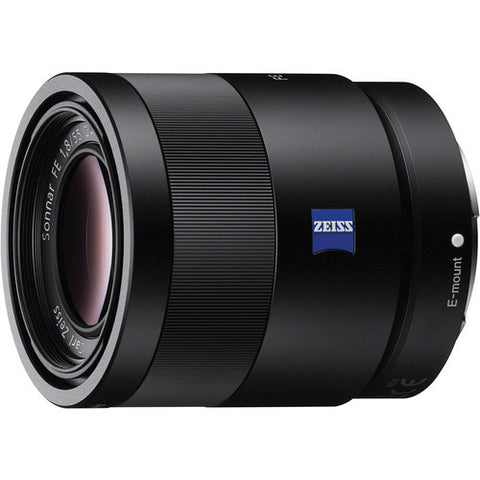 Sony Sonnar T* FE 55mm f/1.8 ZA Black Lens