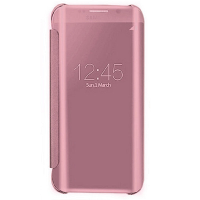 Smart Cover Phone Shell with Clip for Samsung S7 Edge (Rose Gold)