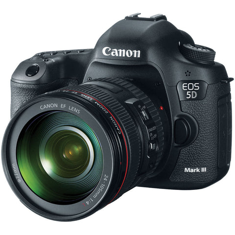Canon EOS 5D Mark III Kit with EF 24-105mm f/4L IS Lens Black Digital SLR Camera