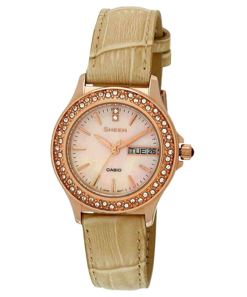 Casio Sheen SHE-4800GL-9A Watch (New with Tags)
