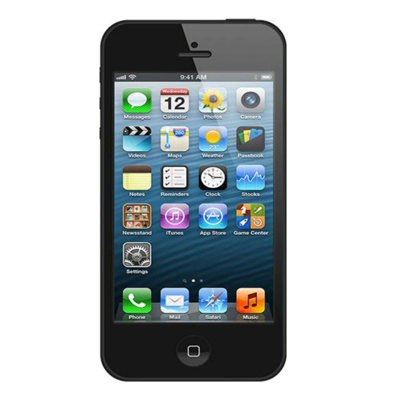 test no option Apple iPhone 5 16GB 4G LTE Black Unlocked (Refurbished - Grade A)
