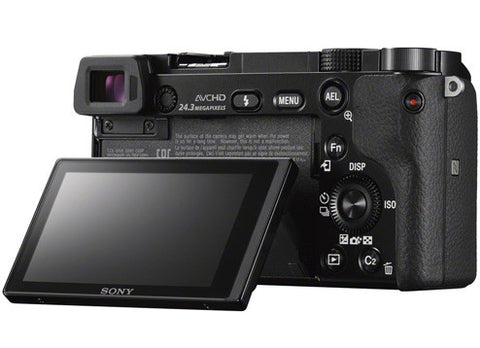 Sony Alpha A6000 ILCE-6000Y with 16-50mm and 55-210mm Lenses Black Mirrorless Digital Camera