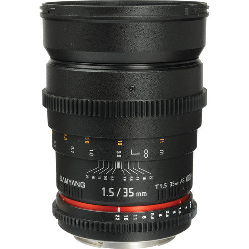 Samyang 35mm T1.5 VDSLR for Nikon Lens