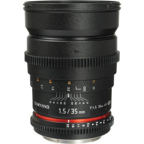 Samyang 35mm T1.5 VDSLR for Canon Lens