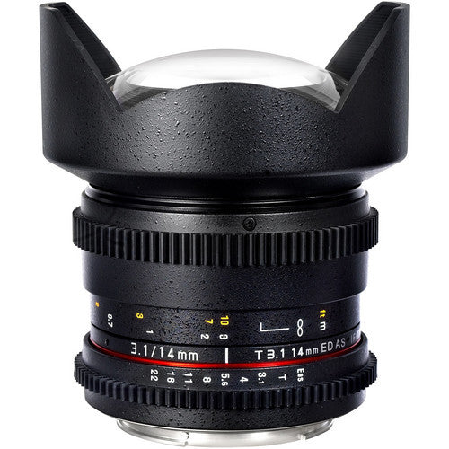 Samyang 14mm T3.1 ED AS IF UMC VDSLR Lens for Nikon