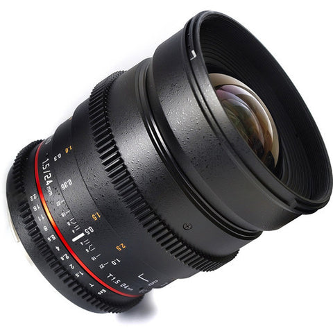 Samyang 24mm T1.5 ED AS UMC VDSLR (Sony E-Mount) Lens
