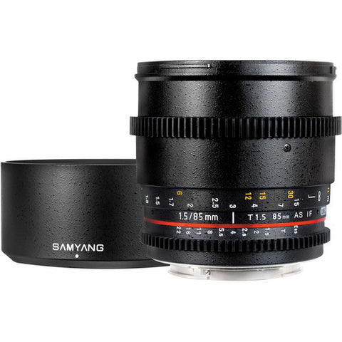 Samyang 85mm T1.5 AS IF UMC VDSLR (3/4) Lens
