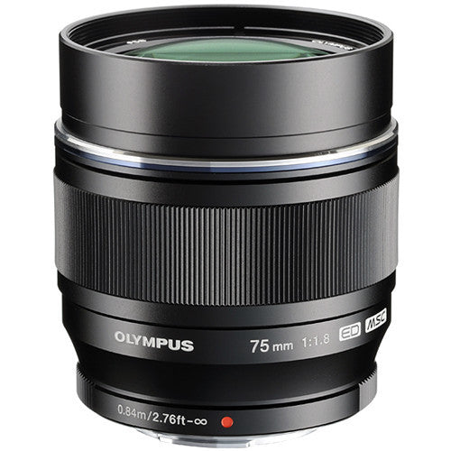 Olympus M.Zuiko Digital ED 75mm 1:1.8 Black Lens