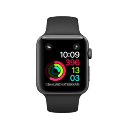 Apple Watch 2 42mm Space Gray Aluminum Case Sport Band MP062LL/A (Black)