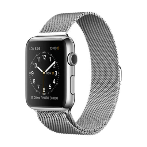 Apple Watch 42mm Stainless Steel Case Milanese Loop ML3Y2 (Silver)