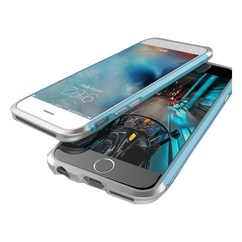 Shell Metal Frame Case 4.7 inch for iPhone 6/6s (Blue Silver)