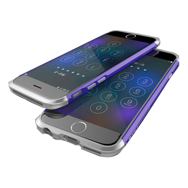 Shell Metal Frame Case 4.7 inch for iPhone 6/6s (Purple Silver)