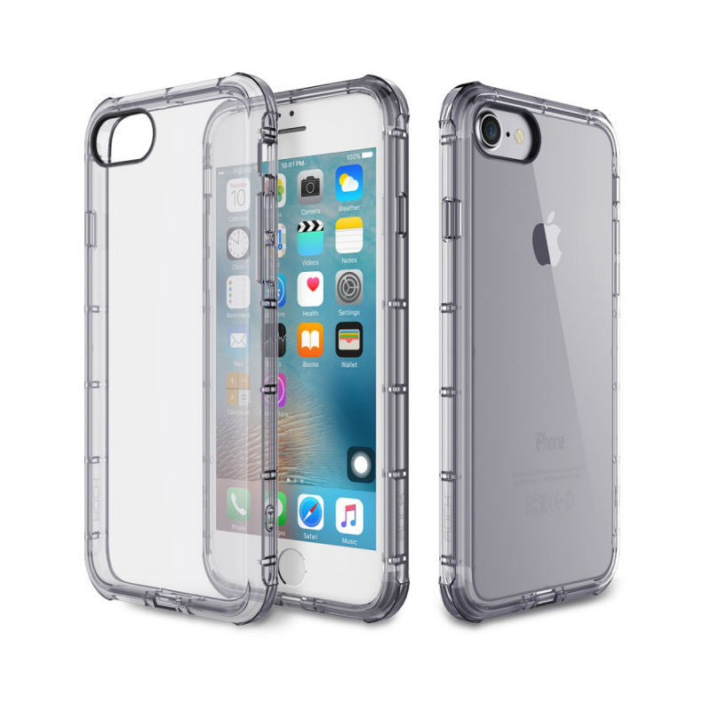 Silicone Crystal Shield Case 4.7 inch for iPhone 7 (Black)