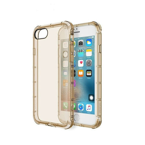 Silicone Crystal Shield Case 4.7 inch for iPhone 7 (Gold)