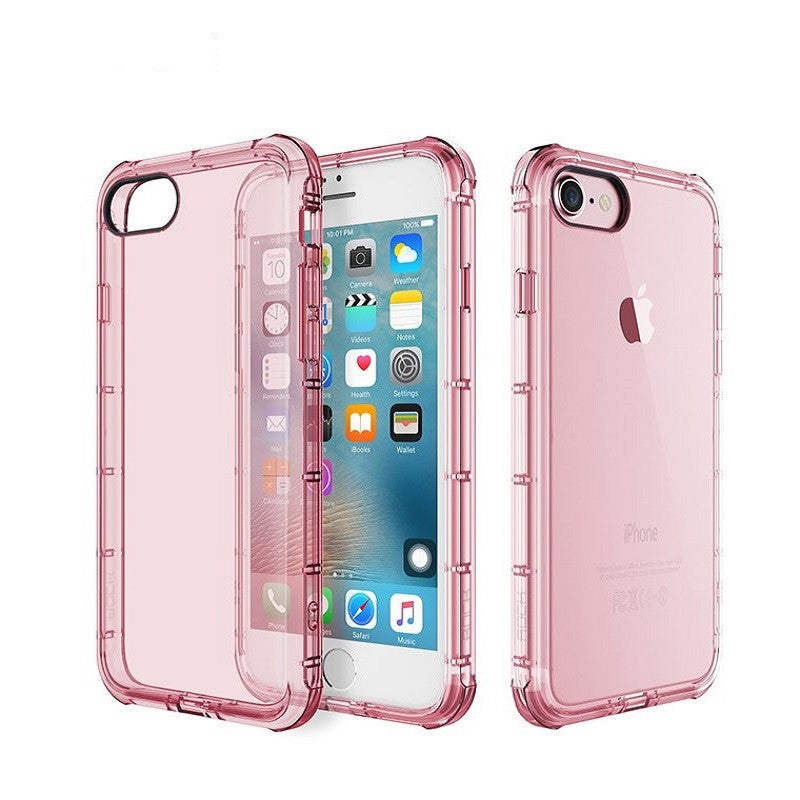 Silicone Crystal Shield Case 4.7 inch for iPhone 7 (Pink)