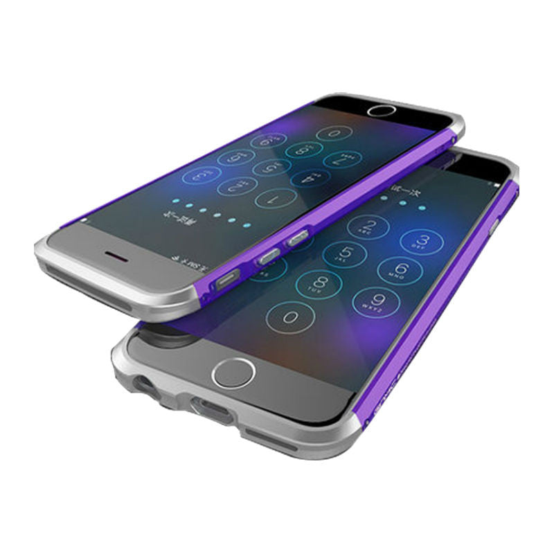 Shell Metal Frame Case 5.5 inch for iPhone 6 Plus/6s Plus (Purple Silver)