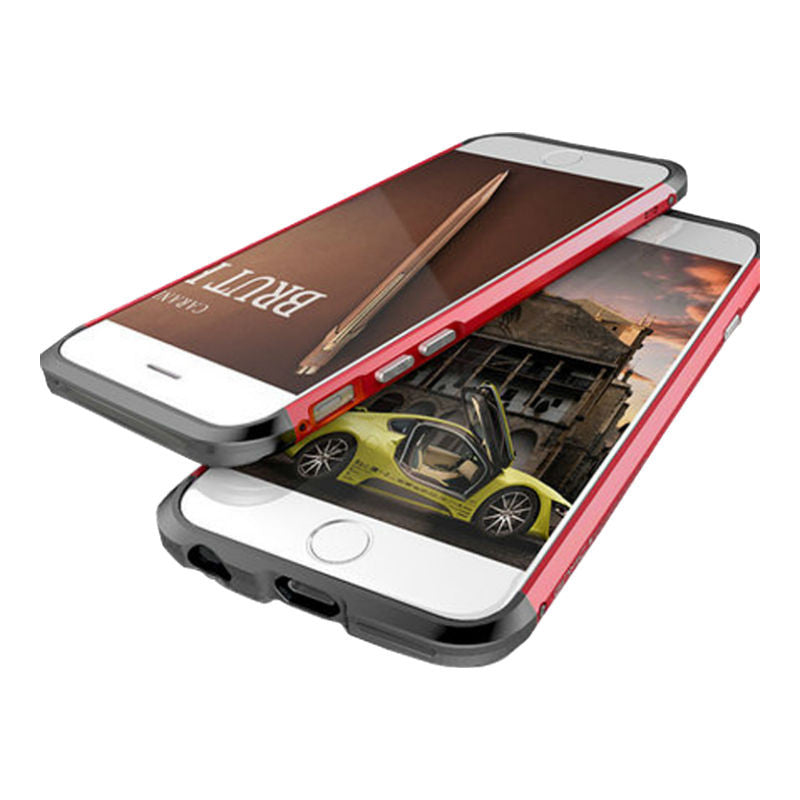 Shell Metal Frame Case 5.5 inch for iPhone 6 Plus/6s Plus (Red Black)