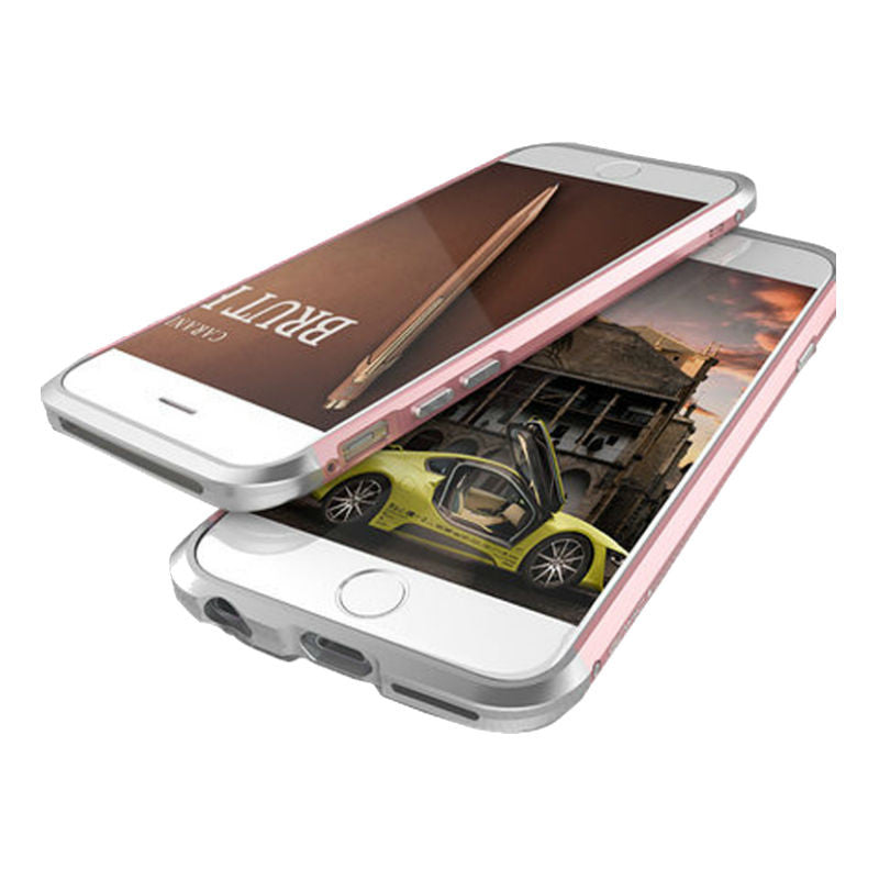 Shell Metal Frame Case 5.5 inch for iPhone 6 Plus/6s Plus (Rose Gold)