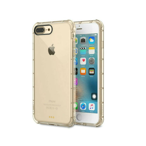 Silicone Crystal Shield Case 5.5 inch for iPhone 7 Plus (Gold)