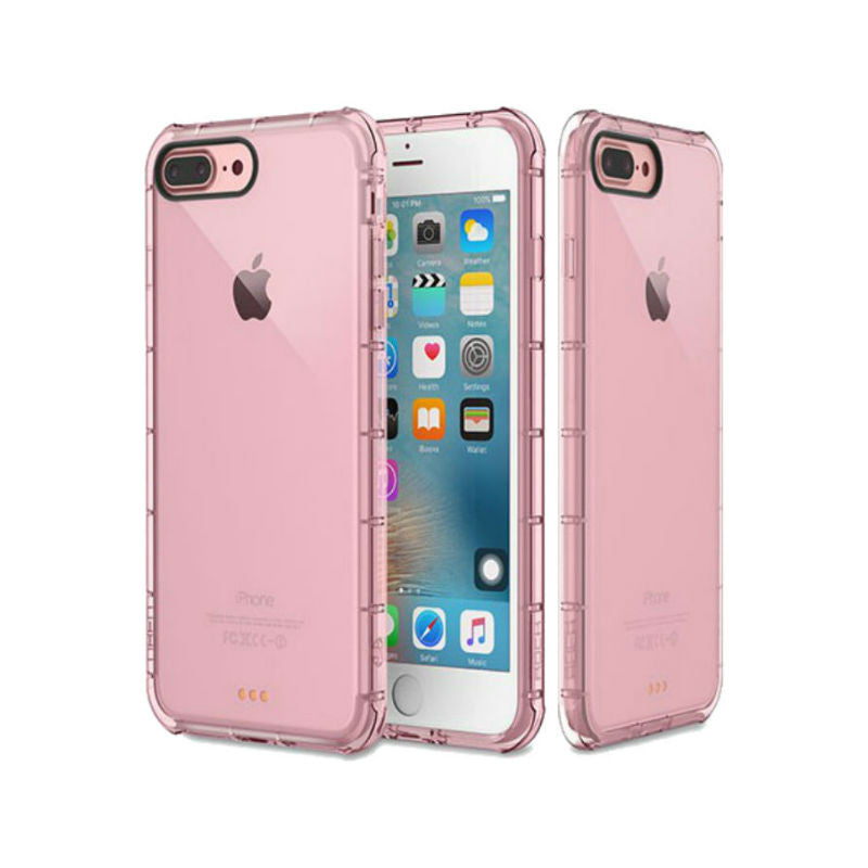 Silicone Crystal Shield Case 5.5 inch for iPhone 7 Plus (Pink)