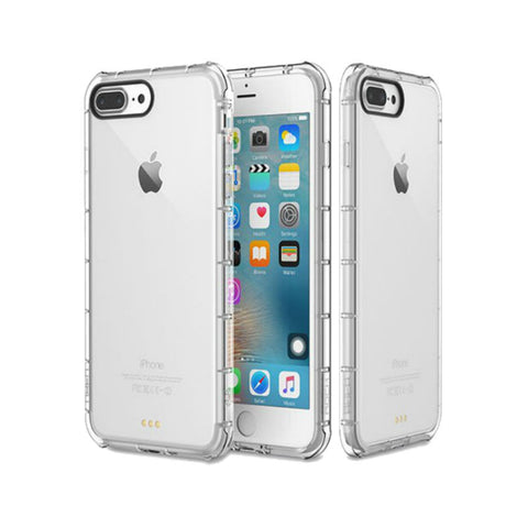 Silicone Crystal Shield Case 5.5 inch for iPhone 7 Plus/7s Plus (Transparent)