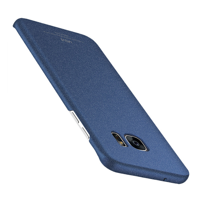 Classic Rock Sand Surface Curved Screen Phone Shell for Samsung S7 Edge (Sapphire Blue)