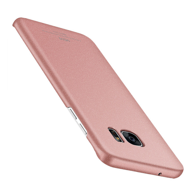 Classic Rock Sand Surface Curved Screen Phone Shell for Samsung S7 Edge (Rose Gold)