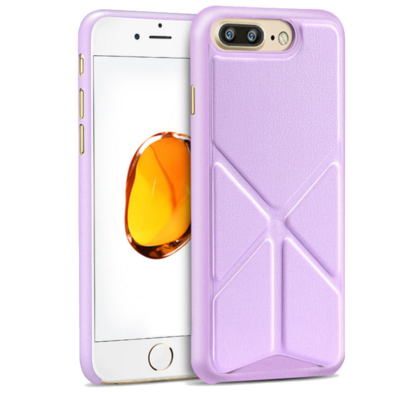 Protective Sleeve 5.5 inch Phone Shell with Stand for iPhone 7 Plus (Purple)