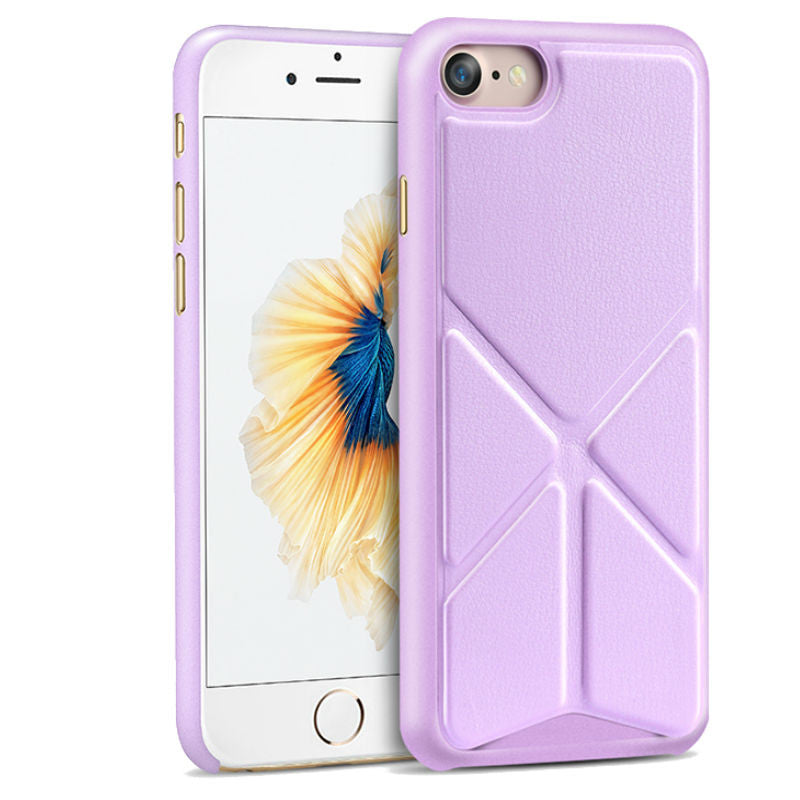 Protective Sleeve 4.7 inch Phone Shell with Stand for iPhone 7 (Purple)