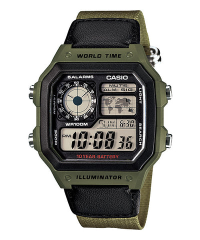Casio Classic Standard Digital AE-1200WHB-3BV Watch (New with Tags)