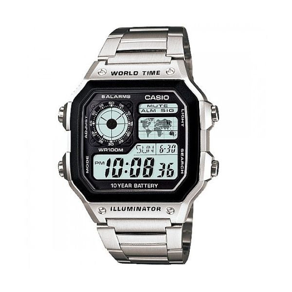 Casio Classic Standard Digital AE-1200WHD-1AV Watch (New with Tags)