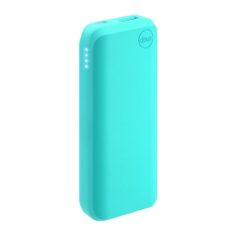 Amuse Deux 6000 mAh Polymer Power Bank (Aqua Blue)