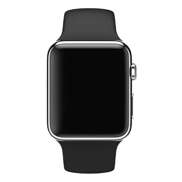 Apple Watch 42mm Stainless Steel Case Sport Band MLC82 (Black)