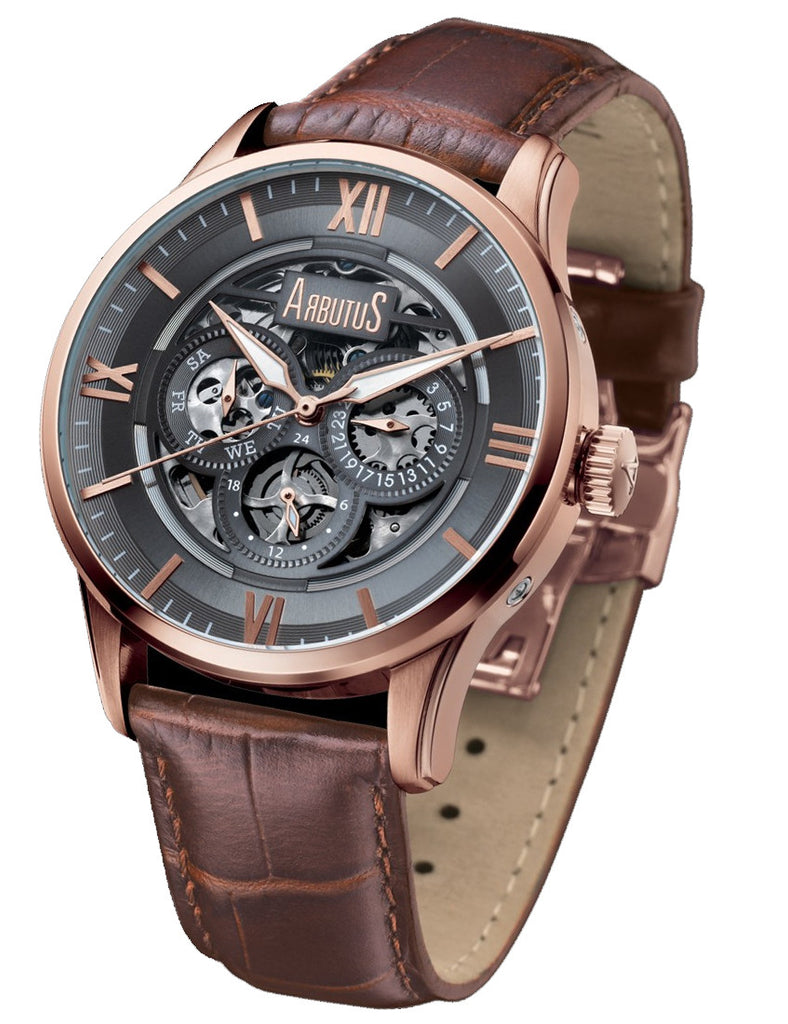Arbutus Rose Gold Automatic AR702RNF Watch (New with Tags)