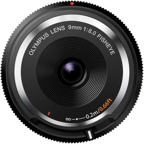 Olympus 9mm f8.0 BCL-0980 Fisheye Body Cap Black Lens
