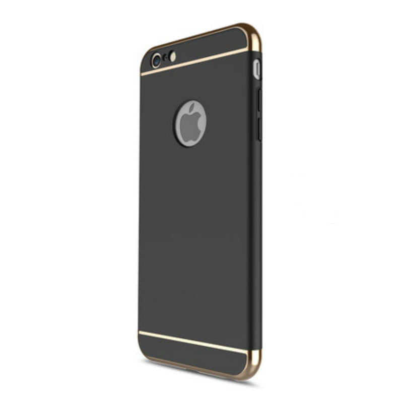 Hard Shell Case 5.5 inch for iPhone 6/6s Plus (Black Steel Film)