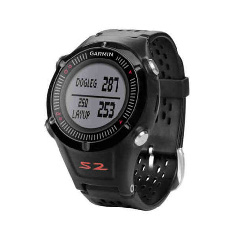 Garmin Approach S2 010-01139-01 Golf Watch (Black/Red)