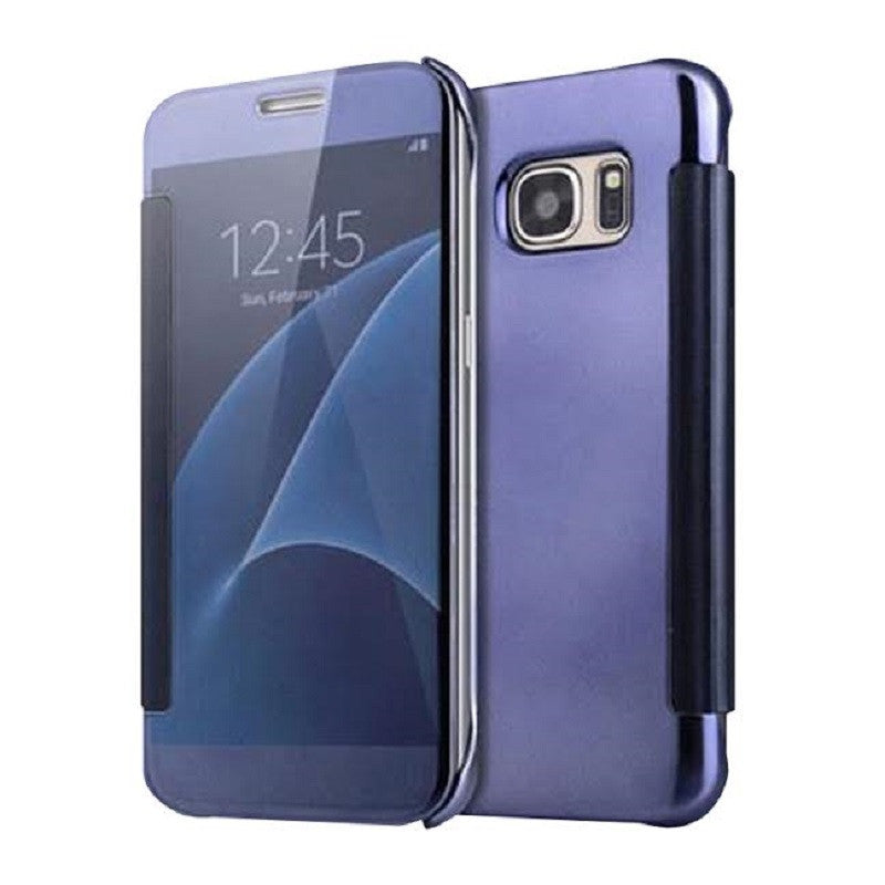 Smart Cover Phone Shell with Clip for Samsung S7 (Dark Blue)