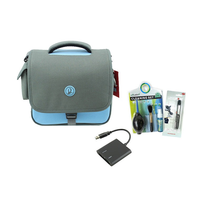Beginner Essential Bundle Pack (Cleaning Kit, Lenspen, Card Reader, Camera Bag)